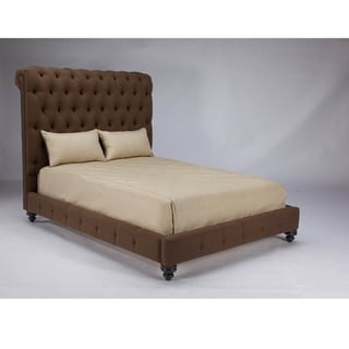 JAR Design 'Alphonse Tufted' California King-size Chocolate Bed