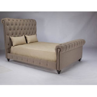 JAR Design 'Alphonse Tufted' Eastern King-size Feather Bed with Footboard
