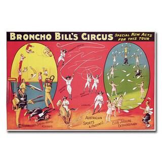 Broncho Bill's Circurs Brimingham 1890s' Canvas Art