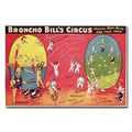 Broncho Bill's Circurs Brimingham 1890s' Canvas Art