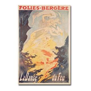 Jules Cheret 'La Danse du Feu 1897' Canvas Art