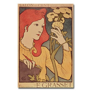 Eugene Grasset 'Salon de Cent 1894' Canvas Art