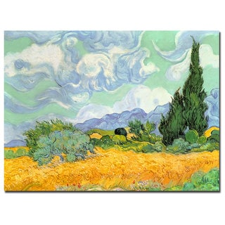 Vincent van Gogh 'Wheatfield with Cypresses 1889' Canvas Art