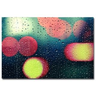 Beata Czyzowska Young 'Rain and the City' Canvas Art