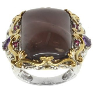 Michael Valitutti Two-tone Purple Chalcedony and Amethyst Ring