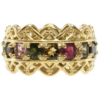 Michael Valitutti Yellow Tone Multi-Tourmaline Band