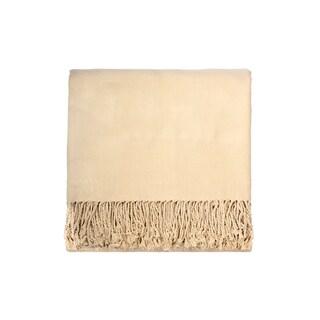 Solid Bamboo 50 x 70 Cream Throw