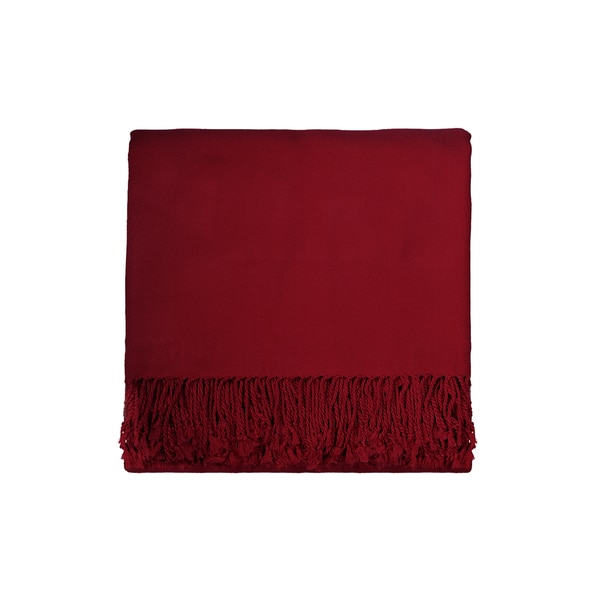 Solid Rayon from Bamboo 50 x 70 Cranberry Throw