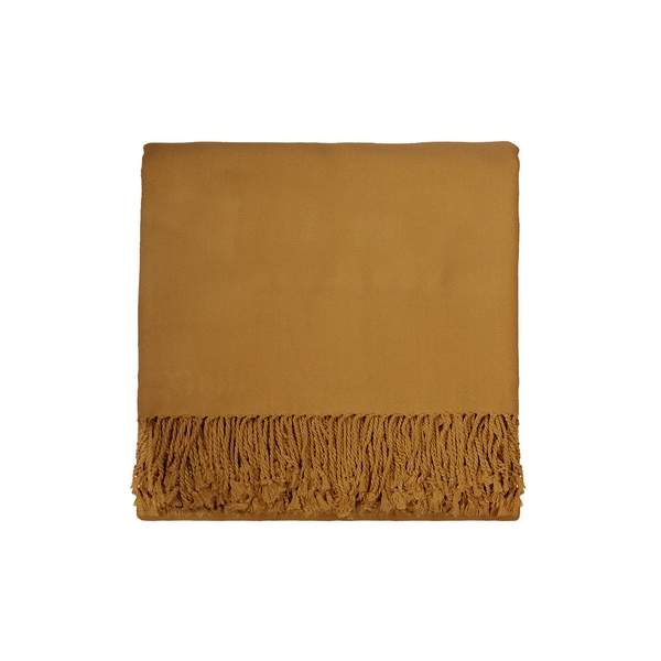 Solid Bamboo 50 x 70 Mustard Throw
