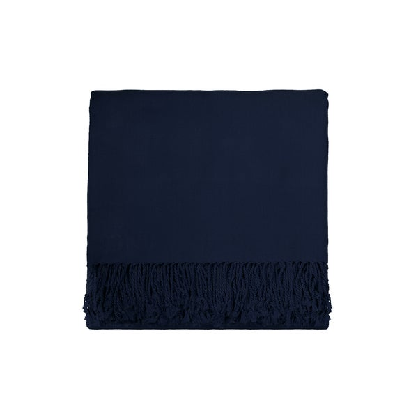 Solid Rayon from Bamboo 50 x 70 Midnight Blue Throw