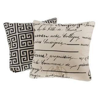 La Ville Reversible Square Decorative Pillows (Set of 2)