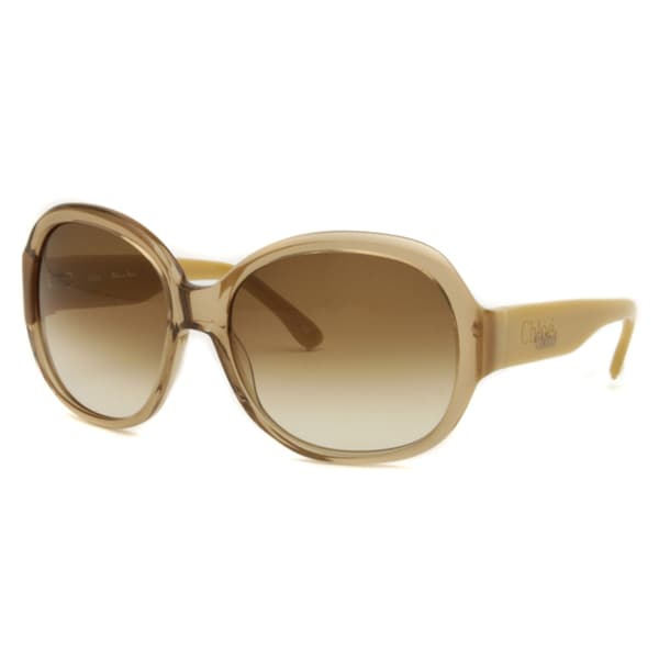 Chloe Women's Brown Transparent/ Tan Fashion Sunglasses