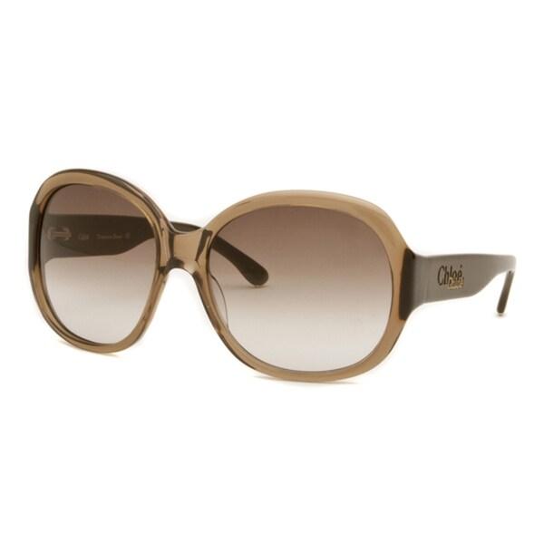 Chloe Women's Brown Transparent/ Brown Fashion Sunglasses