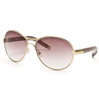 Chloe Women's Gold Aviator Sunglasses