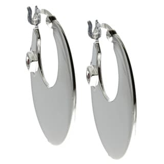 ELLE Jewelry Sterling Silver Hoop Earrings
