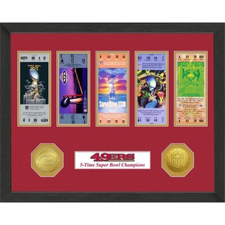 San Francisco 49ers NFL SB Ticket/Game Coin Frame