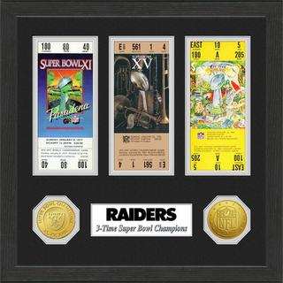 Oakland Raiders NFL SB Ticket/Game Coin Frame