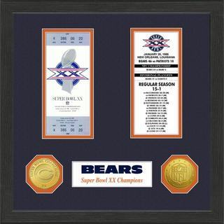 Chicago Bears NFL SB Ticket/Game Coin Frame
