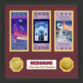 Washington Redskins NFL SB Ticket/Game Coin Frame