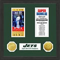 New York Jets NFL SB Ticket/Game Coin Frame