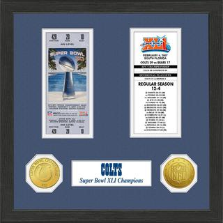 Indianapolis Colts NFL SB Ticket/Game Coin Frame