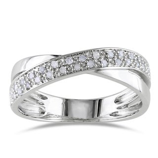 M by Miadora Sterling Silver 1/6ct TDW White Diamond Ring (H-I, I2-I3)