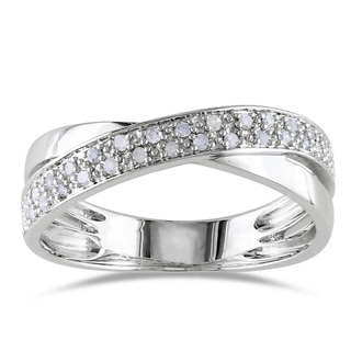 Haylee Jewels Sterling Silver 1/6ct TDW White Diamond Ring (H-I, I2-I3)