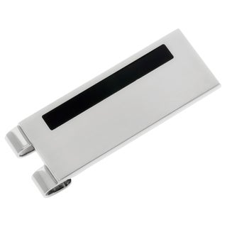 Stainless Steel/ Black Resin Money Clip