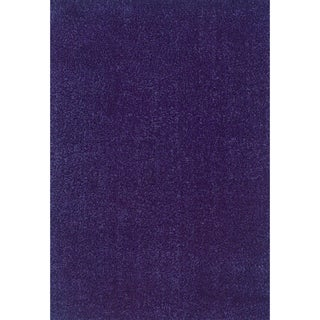 Indoor Casual Blue Shag Area Rug