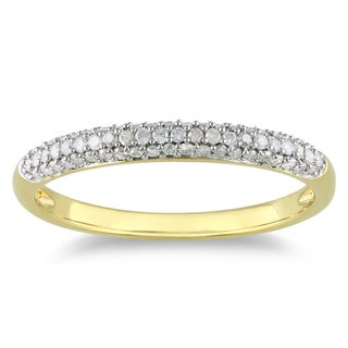 Yellow Rhodiumplated Silver 1/4ct TDW Diamond Ring (H-I, I2-I3)