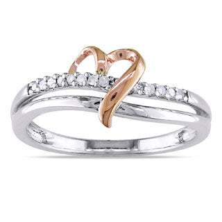 Miadora 10k Two-tone Gold Diamond Accent Heart Ring