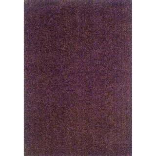 Indoor Purple/ Brown Shag Area Rug