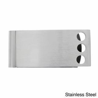 Men's Stainless Steel Open Circle Money Clip