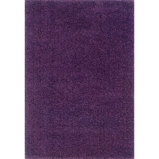 Indoor Purple Shag Polypropylene Area Rug