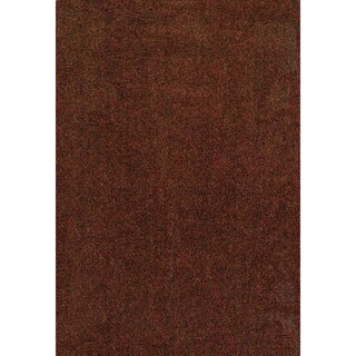 Indoor Rust/ Brown Shag Area Rug