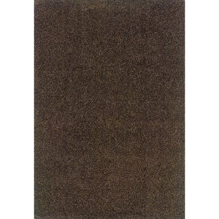 Indoor Grey/ Brown Shag Area Rug