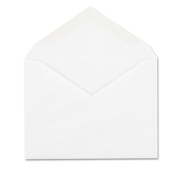 Columbian Contemporary White Invitation Envelopes (Pack of 2)