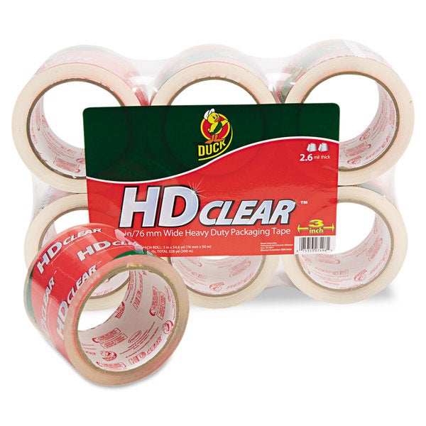 Duck Carton Clear Sealing Tape (Pack of 6)