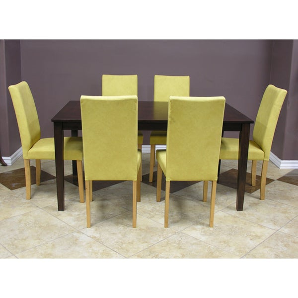 Warehouse of Tiffany Shino Mustard 7-piece Dining Table and Chairs Set