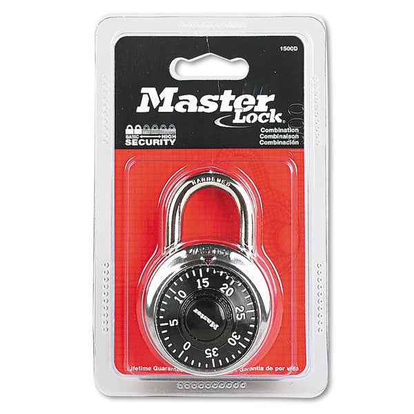 Master Lock Combination Lock- Stainless Steel-