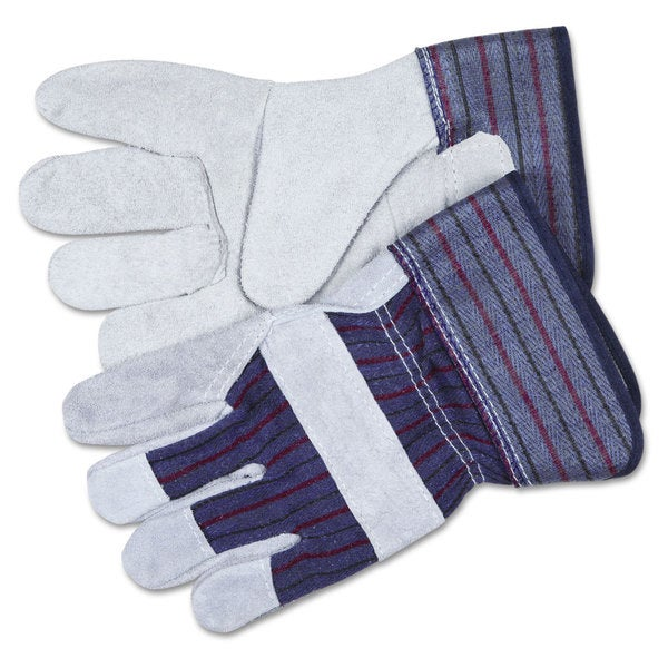 MCR Safety Split Leather Palm Gloves- Gray
