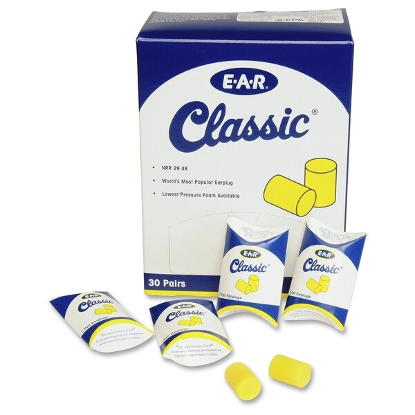 3M Uncorded Classic Ear Plugs, Pillow Paks,