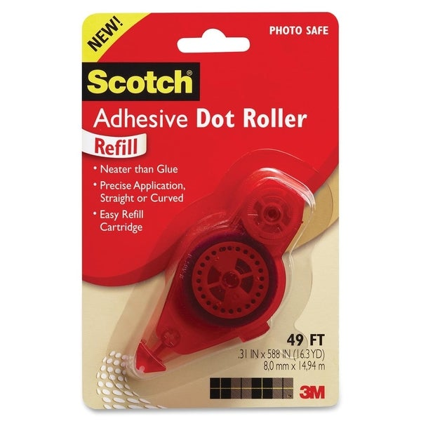 Clear 3M Adhesive Dot Refill,.3 in x 49ft