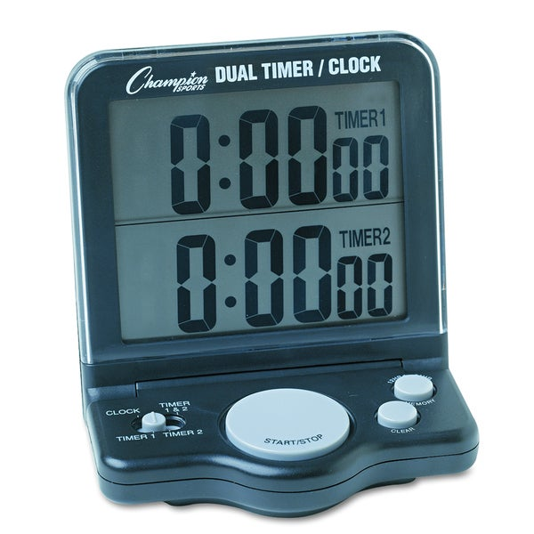 Champion Sport Dual Timer/Clock with Jumbo 1