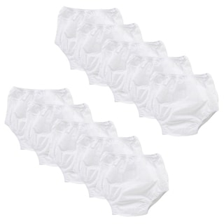 Gerber Waterproof Training Pants in White (Pack of 10)