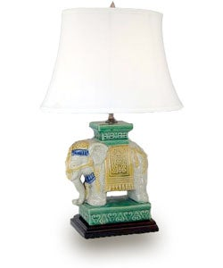 Ceramic Elephant Lamp (China)