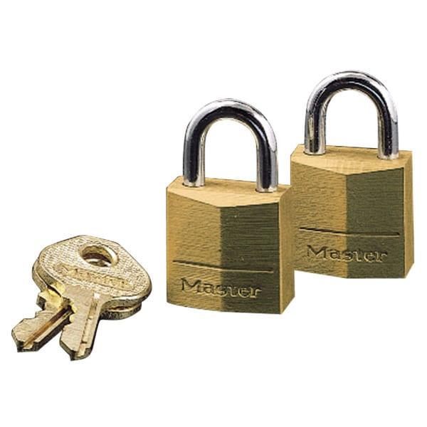 Master Lock Three-Pin Brass Tumbler Locks 3/4