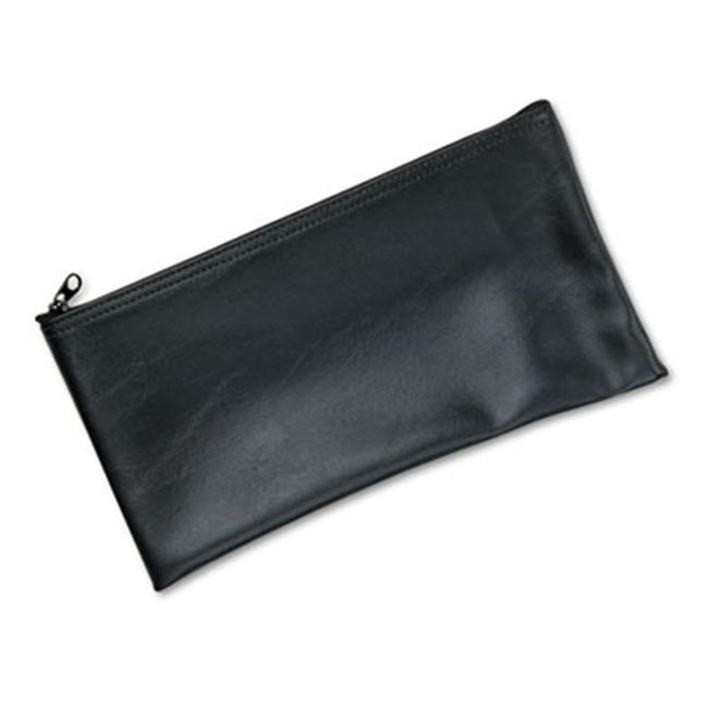 MMF Industries Black Vinyl Zippered Bank Pouch