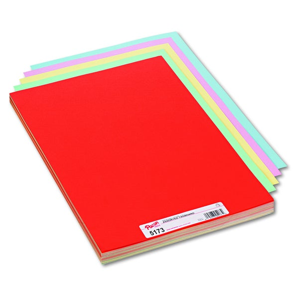 Pacon Assorted Colors Tagboard 18 x 12
