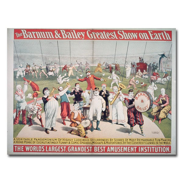 'Barnum and Bailey Greatest Show on Earth' Canvas Art